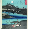 "Ando Hiroshige, Kinuta Bashing at Tama River, sheet 1 of the series ""6 Tamagawa / Jewel Rivers"", 1857 © Leopold Collection II"