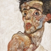 Egon Schiele, Self-Portrait with Raised Bare Shoulder, 1912 © Leopold Museum, Vienna, Inv. 653