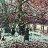 THEODOR VON HÖRMANN, Peasant Children in the Wintry Beech Forest, Wessling | 1892 © Leopold Museum, Vienna, Inv. 1979