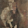 Egon Schiele, »Self-Seer« II (»Death and Man«) © Leopold Museum, Wien, Inv.Nr. 451
