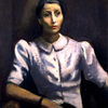 Josef Dobrowsky, Portrait of Isolde Ahlgrimm (Woman with white Blouse), 1938 © Leopold Museum, Vienna, Inv. 38