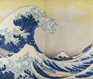 Katsushika Hokusai, The Great Wave at Kanagawa, 1830 © Collection Leopold II