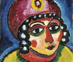 Alexej von Jawlensky, Girl's Head with Red Turban and Yellow Clasp (Barbarian Princess), c. 1912 © Courtesy of Osthaus Museum Hagen & Institut für Kulturaustausch, Tübingen