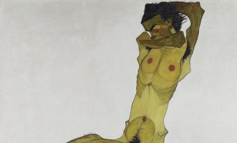 Egon Schiele, Seated Male Nude (Self-Portrait) © Leopold Museum, Vienna, Inv. 465