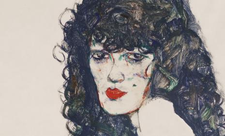 Egon Schiele, Portrait of a Woman with Black Hair, 1914 © Private Collection