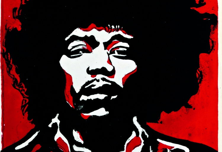 Otto Muehl, Jimi Hendrix, 1968 © Private Collection, (c) VBK Vienna, 2010