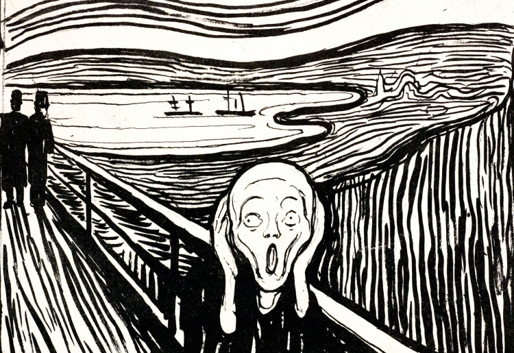 Edvard Munch, The Scream, 1895 © The Munch Museum/The Munch Ellingsen Group/VBK/Vienna 2009