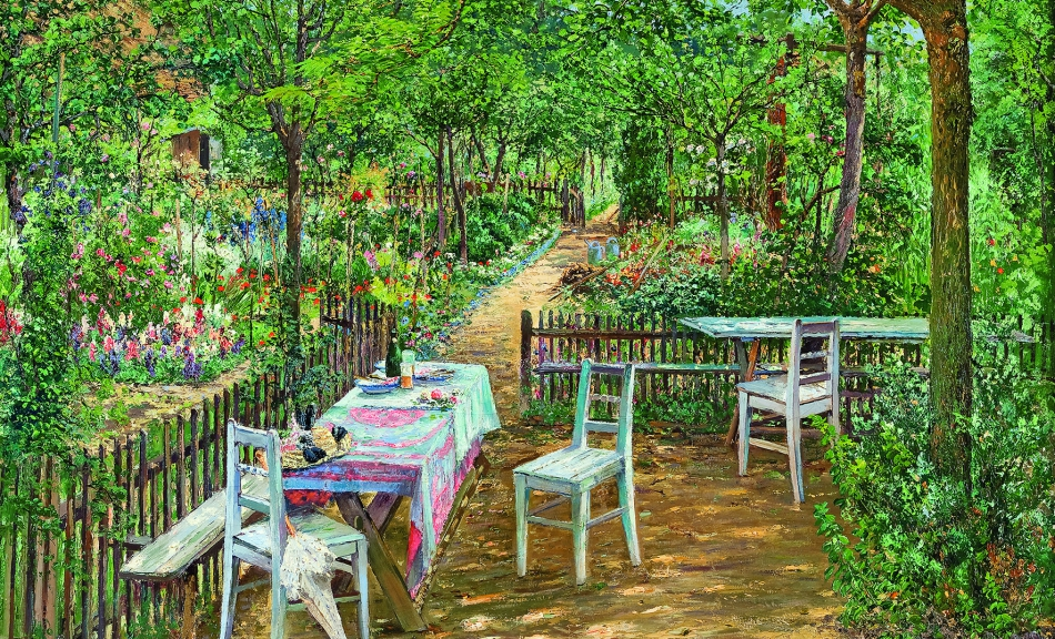 Theodor von Hörmann, Summer in the Garden, Znojmo, c. 1893 © Leopold, Private Collection