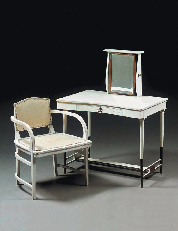 Joseph Maria Olbrich, Frisiertisch Und Armlehnstuhl Auf Der Ersten  Internationalen Ausstellung Für Moderne Dekorative Kunst