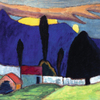 Gabriele Münter, Landscape with a White Wall, 1910 © Courtesy of Osthaus Museum Hagen & Institut für Kulturaustausch, Tübingen|© Bildrecht 2015