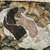 Egon Schiele, Death and Maiden (Mann and Girl), 1915 © Belvedere, Vienna, Photo:  Belvedere, Vienna