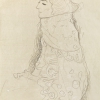 GUSTAV KLIMT, Seated Lady with Ornamented Cape in Profile from the Left, c. 1910 © Leopold Museum, Vienna | Photo: Leopold Museum, Vienna