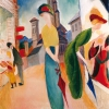 AUGUST MACKE, TWO WOMEN IN FRONT OF A HAT SHOP, 1913 © Courtesy Heidi Horten Collection