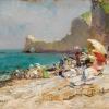 OLGA WISINGER-FLORIAN, The Beach at Étretat (Normandy), 1893/94 © Private collection Photo: Auktionshaus im Kinsky, Vienna