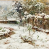 OLGA WISINGER-FLORIAN, October Snow (Motif from the Castle Grounds in Hartenstein), 1905 © Private collection Photo: Leopold Museum, Vienna/Manfred Thumberger