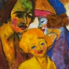 EMIL NOLDE, Portrait of a Family, 1947 © Renate und Friedrich Johenning Stiftung, Photo: Leopold Museum, Vienna/Manfred Thumberger © Nolde Stiftung Seebüll