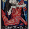"Oskar Kokoschka, ""Pietà"". Poster for the play ""Murderer, the Hope of Women"" at the ""Internationale Kunstschau"", 1909 © Leopold Museum, Vienna, Inv. 2673"