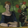 Hans Böhler, Seated Woman with Flowers, 1927 © Leopold Museum, Vienna, Inv. 612