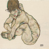 Egon Schiele, Crouching Nude Girl, 1914 © Leopold Museum, Vienna, Inv. 1398