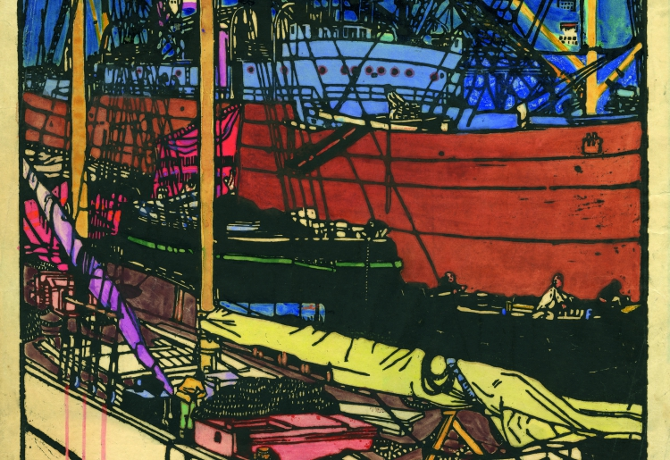 RUDOLF KALVACH, Deck. »Trieste Harbor Life« 4 © Private Collection
