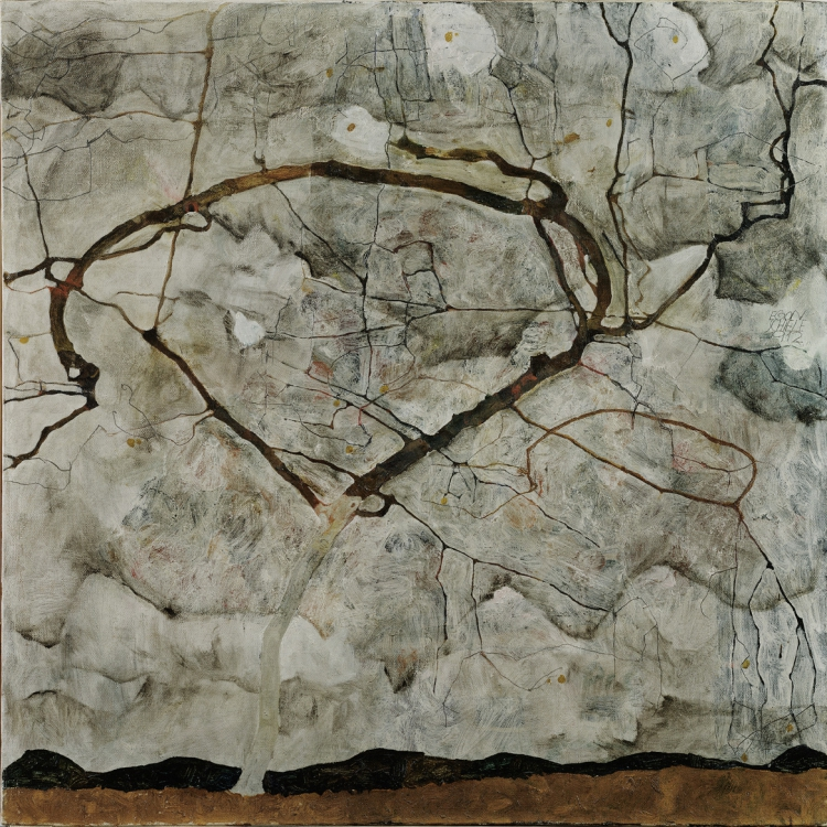 Egon Schiele, Autumn Tree in Stirred Air (Winter Tree), 1912 © Leopold Museum, Vienna, Inv. 449