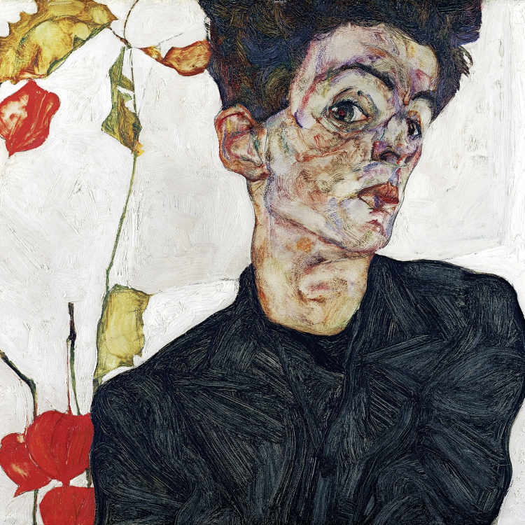 Egon Schiele, Self-Portrait with Chinese Lantern Plant, 1912 © Leopold Museum, Vienna, Inv. 454