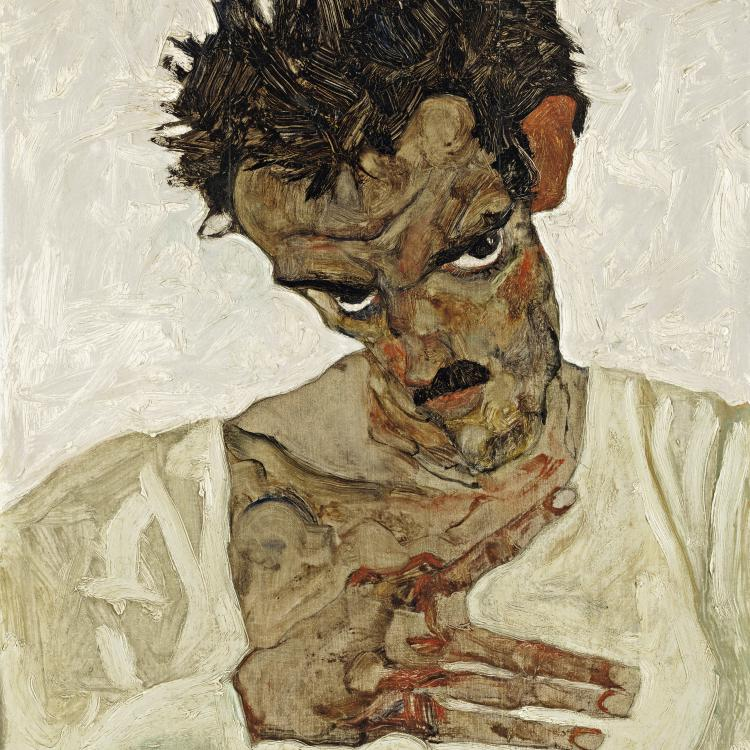 Egon Schiele, Self-Portrait with Lowered Head, 1912 © Leopold Museum, Vienna, Inv. 462