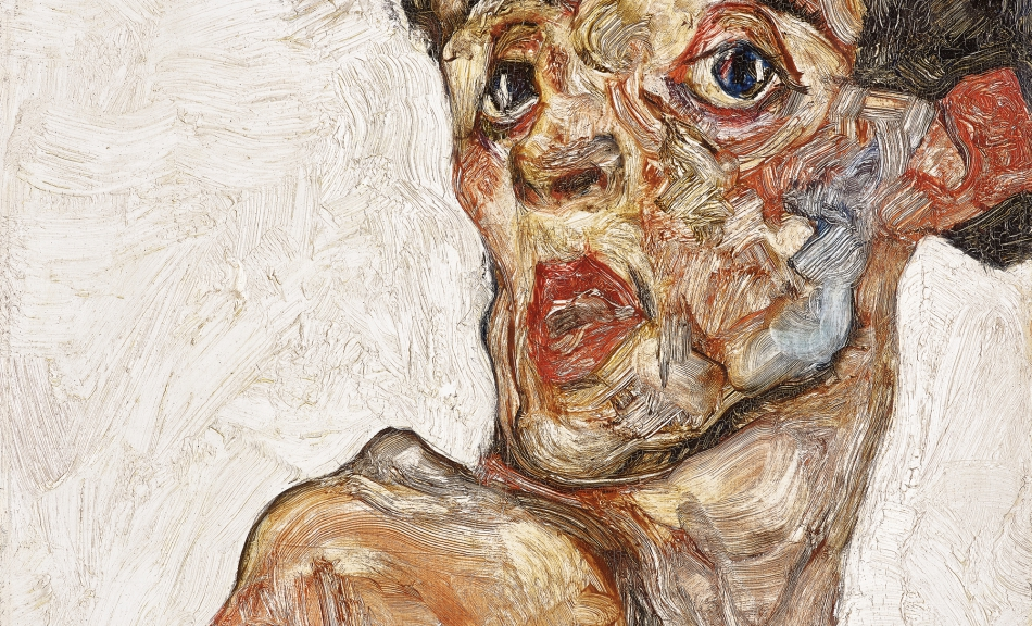 EGON SCHIELE, Self-Portrait with Raised Bare Shoulder, 1912 © Leopold Museum, Vienna Photo: Leopold Museum, Vienna/Manfred Thumberger