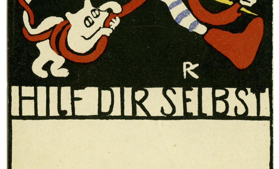 RUDOLF KALVACH, Help Yourself. Postcard no. 109 of the Wiener Werkstätte, 1907 © Private Collection