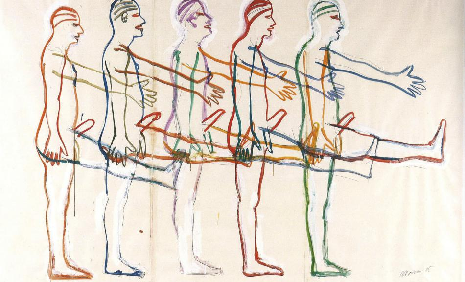 Bruce Nauman, Untitled (Five Marching Men), 1985 © Friedrich Christian Flick Collection / VBK Wien 2012