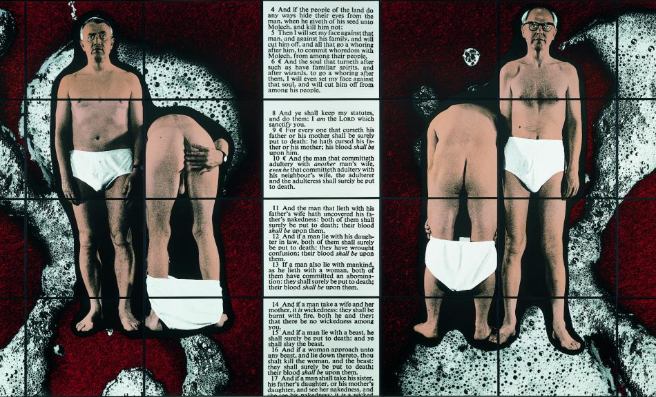 Gilbert & George, Spit Law, 1997 © Courtesy Galerie Thaddaeus Ropac, Paris • Salzburg