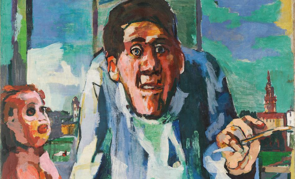 OSKAR KOKOSCHKA, Self-Portrait at the Easel, 1922 © Leopold, Private Collection, © Fondation Oskar Kokoschka/Bildrecht Wien, 2018