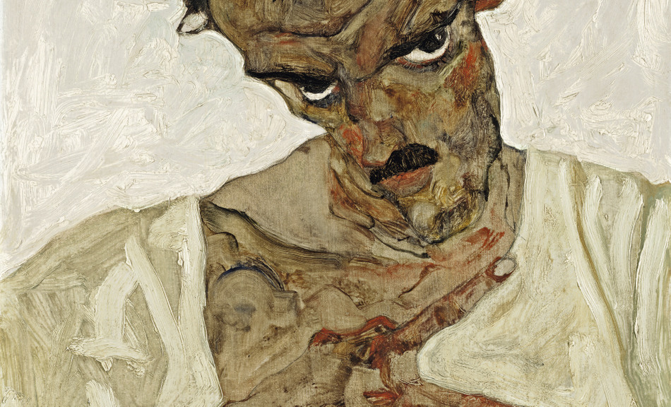 Egon schiele self portrait with lowered head 1912 for Schiele immagini