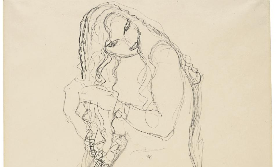 Gustav Klimt, Standing Female Nude with Tilted Head. Study for »Adam and Eve«, c. 1917 © Leopold Museum, Wien, Inv. 1321