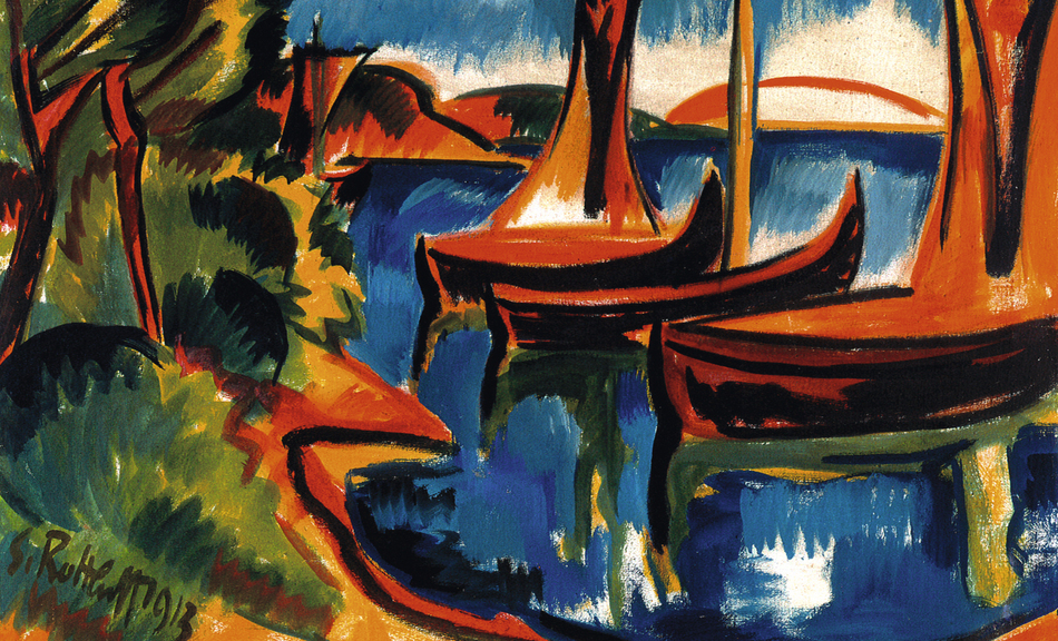 Karl Schmidt-Rottluff, Boats on the Water (Boats in the Harbor), 1913 © Courtesy of Osthaus Museum Hagen & Institut für Kulturaustausch, Tübingen © Bildrecht, Vienna 2015