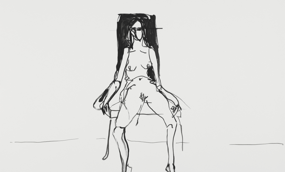 Tracey Emin, Lonely Chair drawing II | 2012 © Courtesy the artist and Lehmann Maupin, New York and Hong Kong © Bildrecht, Vienna 2015