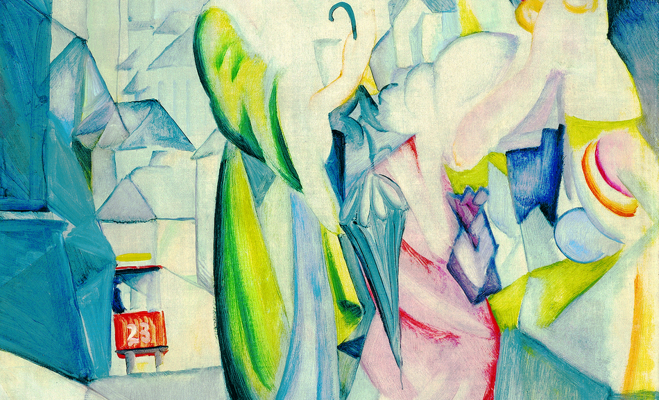 August Macke, Pale Women in Front of Millinery, 1913 © Courtesy of Osthaus Museum Hagen & Institut für Kulturaustausch, Tübingen