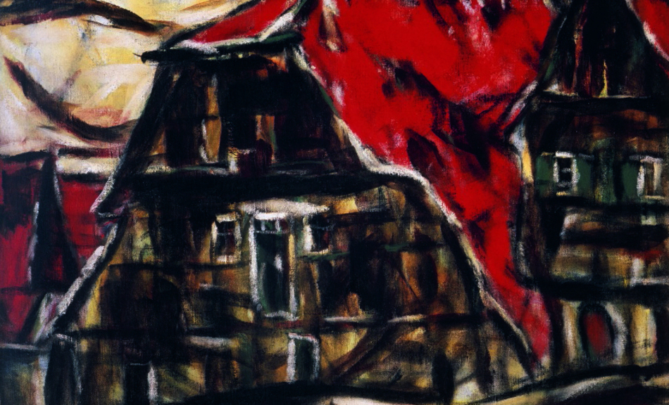 Christian Rohlfs, Red House in Dinkelsbühl, 1921 © Courtesy of Osthaus Museum Hagen & Institut für Kulturaustausch, Tübingen