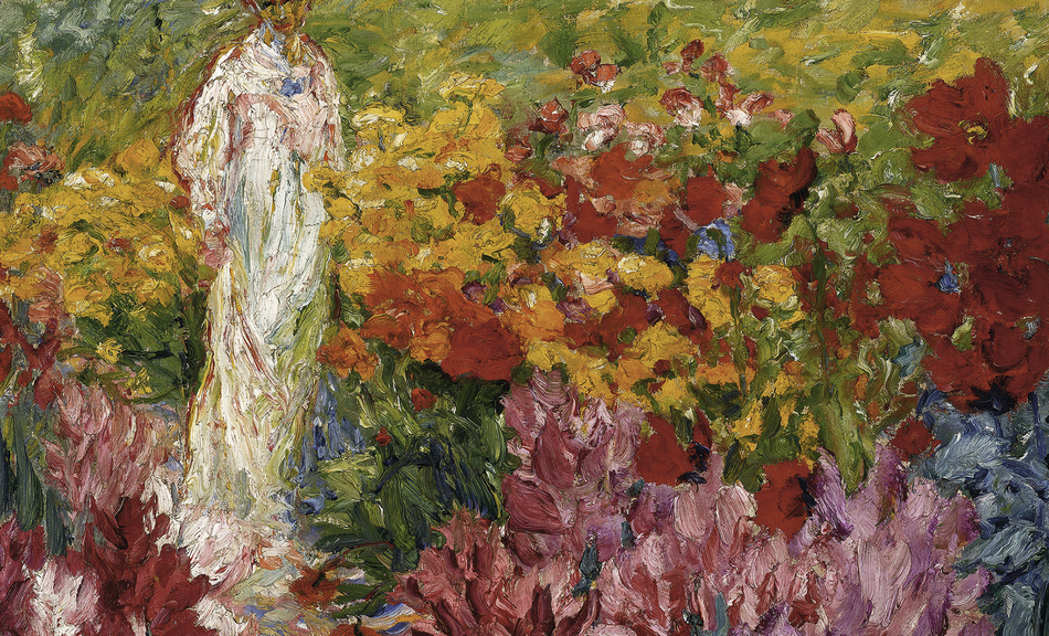 Emil Nolde, Flower Garden. Woman in White Dress en face, 1908 © Courtesy of Osthaus Museum Hagen & Institut für Kulturaustausch, Tübingen|©Nolde Stiftung Seebüll