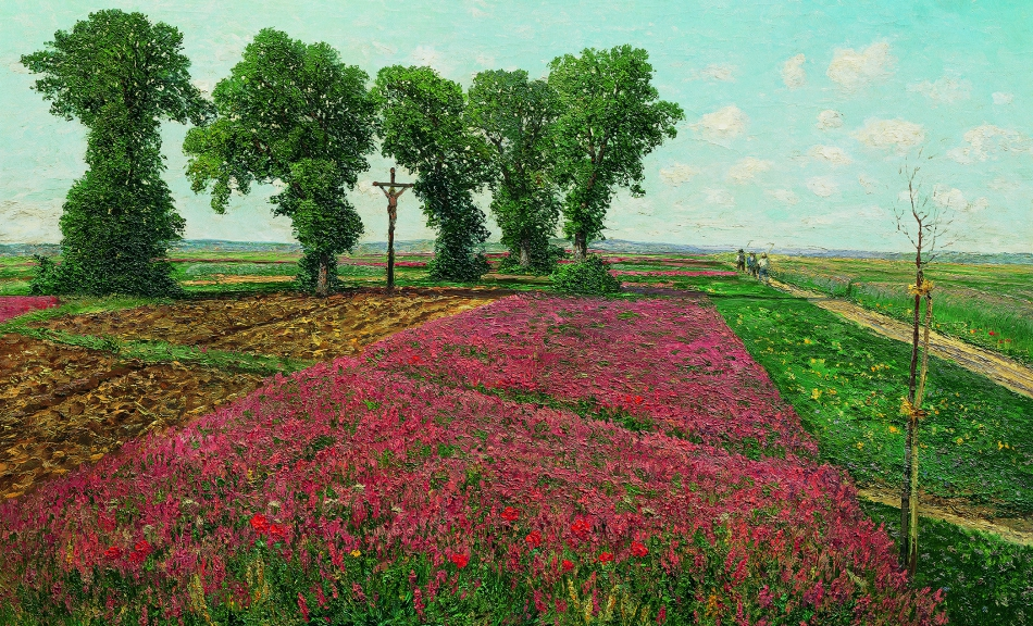 THEODOR VON HÖRMANN, The Large Sainfoin Field in Znojmo IV | 1893 © Belvedere, Vienna