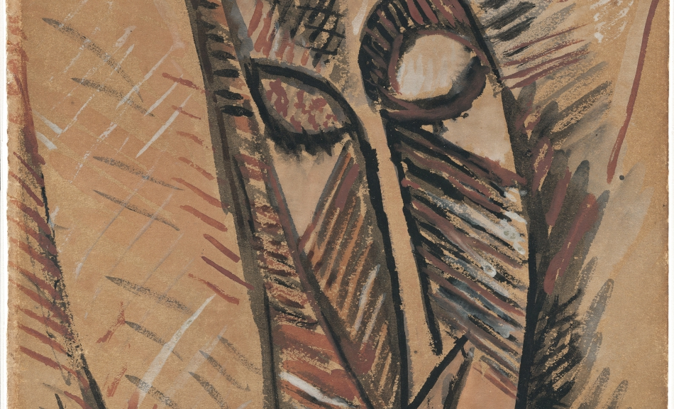 "Pablo Picasso, Study for the Head of ""Nude with Drapery"", 1907, Museo Thyssen-Bornemisza, Madrid © Succession Picasso/Bildrecht, Vienna 2016"
