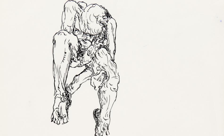 GÜNTER BRUS, Action Sketch, 1966 © Private Collection | Photo: N. Lackner/UMJ