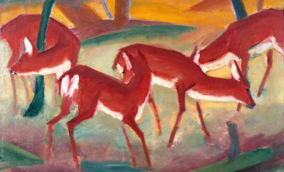 FRANZ MARC, ROTE REHE I, 1910 © Courtesy Heidi Horten Collection