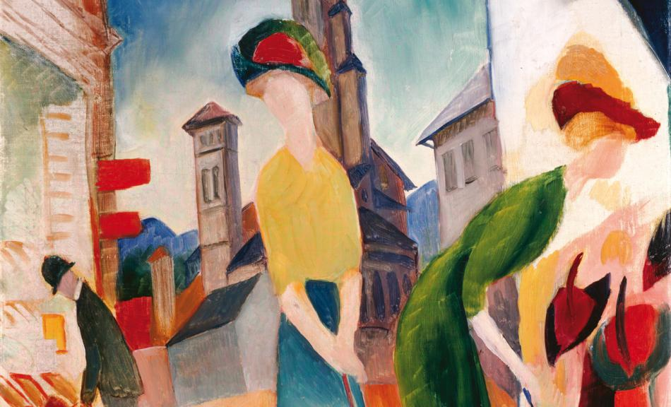 AUGUST MACKE, ZWEI FRAUEN VOR DEM HUTLADEN, 1913 © Courtesy Heidi Horten Collection