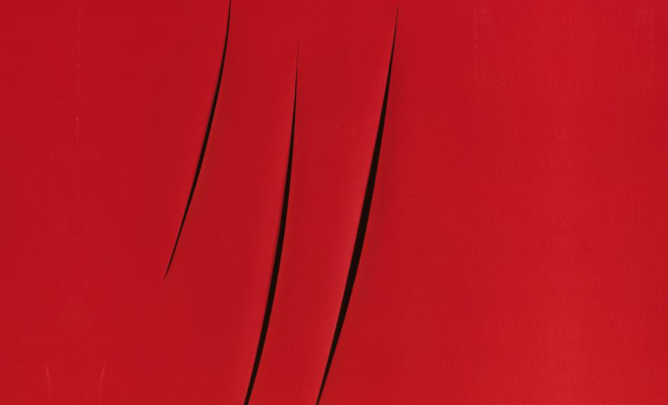 LUCIO FONTANA, CONCETTO SPAZIALE ATTESE, 1959 © Courtesy Heidi Horten Collection © Bildrecht, Wien, 2018