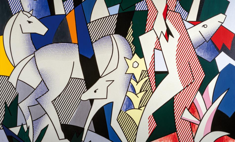 ROY LICHTENSTEIN, FOREST SCENE, 1980 © Courtesy Heidi Horten Collection © Roy Lichtenstein Foundation