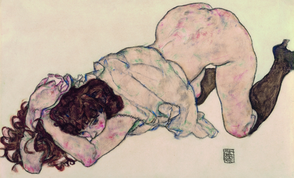 EGON SCHIELE | Kneeling Girl, Resting on Both Elbows | 1917 © Leopold Museum, Vienna | Photo: Leopold Museum, Vienna/Manfred Thumberger