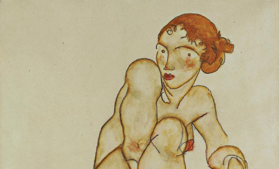 EGON SCHIELE | Naked Girl with Raised Right Leg | 1915 © Leopold Museum, Vienna | Photo: Leopold Museum, Vienna/Manfred Thumberger