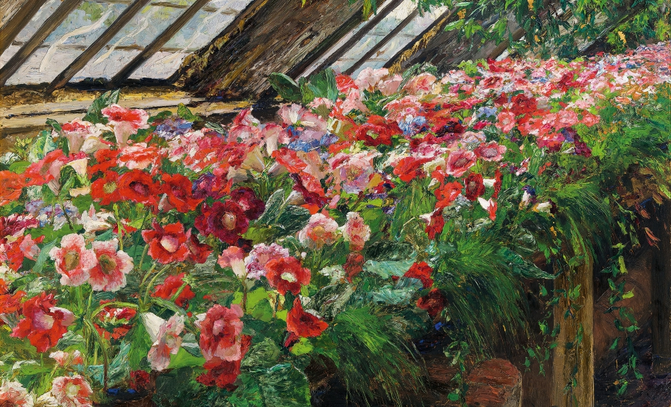 OLGA WISINGER-FLORIAN, Gloxinias in the Greenhouse of Grafenegg Castle, 1905 © Private collection Photo: Auktionshaus im Kinsky, Vienna