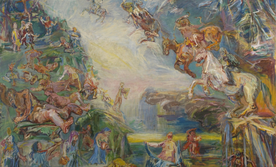 OSKAR KOKOSCHKA, Prometheus Triptychon (Hades und Persephone, Apokalypse, Prometheus), 1950 © The Courtauld Gallery, London Foto: The Samuel Courtauld Trust, The Courtauld Gallery, London © Fondation Oskar Kokoschka/Bildrecht Wien, 2019